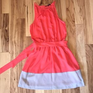 Express Keyhole Colorblock Dress